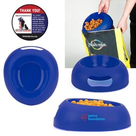 Scoop-and-Serve Pet Bowl
